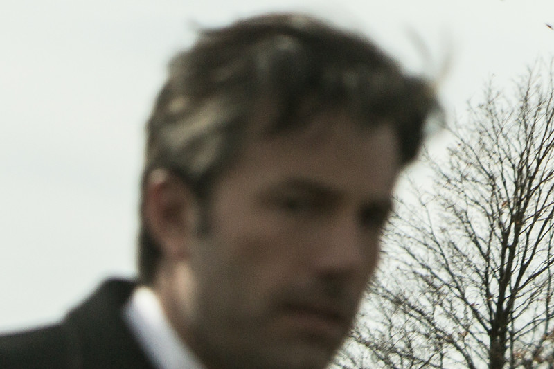 Bruce Wayne (Ben Affleck) at Smallville Cemetery