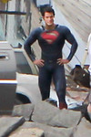 """Description: Henry Cavill as Superman in Smallville (Set) <br /> <br /> Media: Photo<br /> <br /> Copyright: Gregory Zonsius<br /> Attribution: To use or link to this media you must include """"Courtesy of <a href=""""mailto:greg@zoncom.com/"""">Gregory Zonsius</a> 