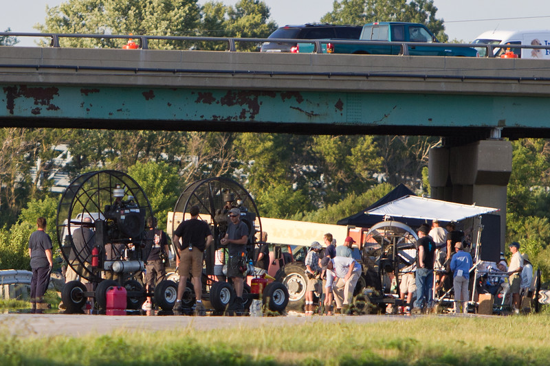"""Description: Smallville Highway Filming on Set <br /> <br /> Media: Photo<br /> <br /> Copyright: Gregory Zonsius<br /> Attribution: To use or link to this media you must include """"Courtesy of <a href=""""mailto:greg@zoncom.com/"""">Gregory Zonsius</a> 
