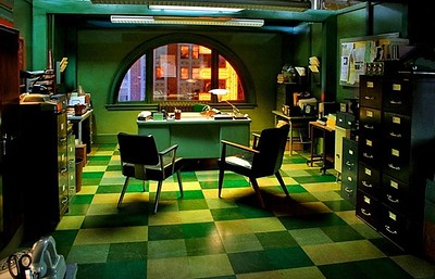 – THE BIG BANG – Feature film<br><br>Private eye's office, inspired by 1940's film noir.<br>* Built on stage