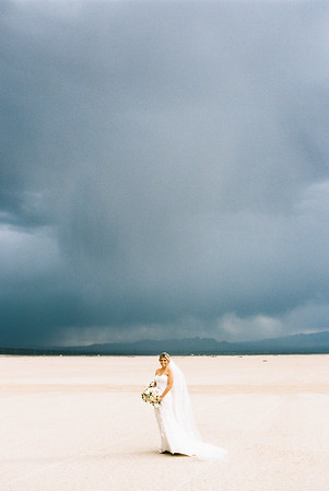 Rainy Dry Lake Bed Elopement | Las Vegas Intimate Wedding Photographer