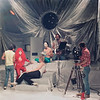Crew on the set of Vegas In Space - Queen Vaneer's Palace, August 11, 1984