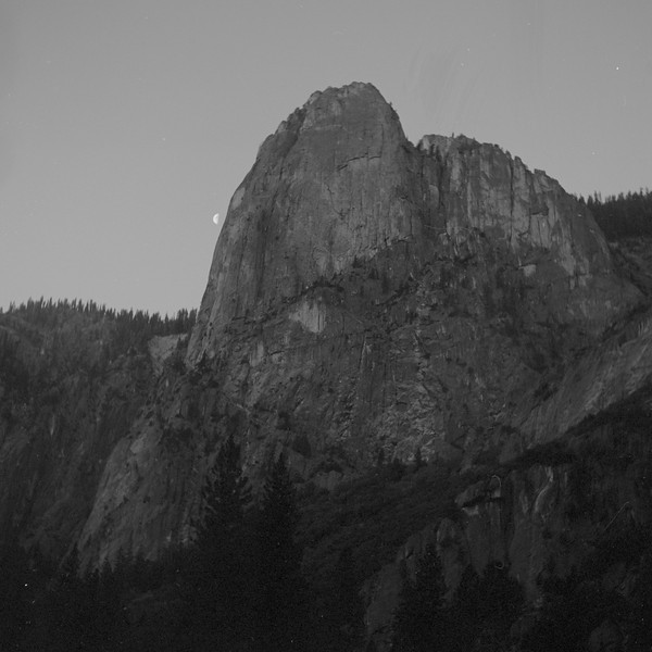 Half moon over Yosemite