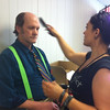 Mr. Fun, getting all dolled up!