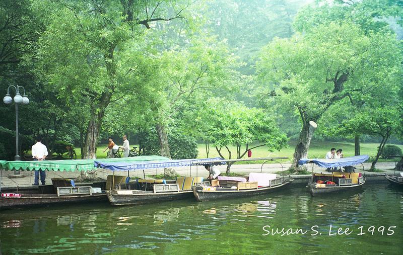 Hangzhou: rental boats on West Lake.