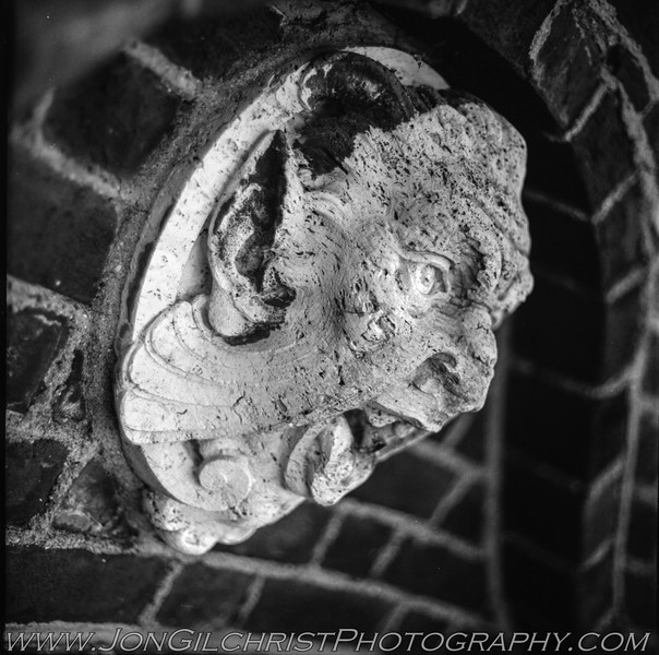 handheld. head at Oliver Mansion. Shot on Kodak T-Max 100 (120 Gelatin Silver)