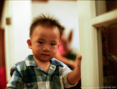 kodak iso 400 - my nephew, tink got abit of the ahbeng look