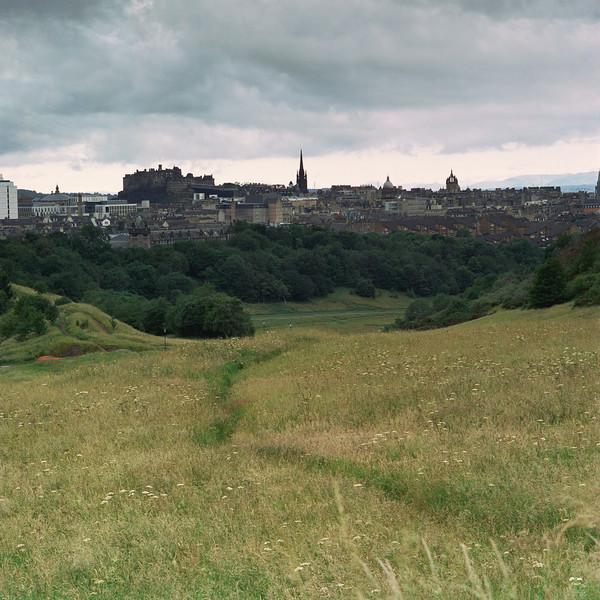 Edinburgh Castle taken from Arthur's Seat (CineStill 50D Film)