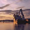 Sunset Overlooking Leith Docks (CineStill 50D Film)