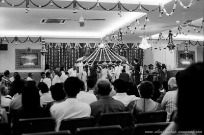 Saji's wedding (Portra Iso 400 (b/w)): ceremony highlights