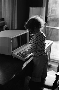 TRH and Compaq Portable, Plus-X, c. 1984
