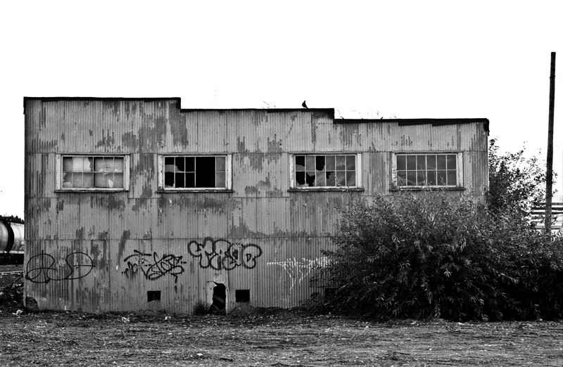 Abondoned warehouse by the tracks on 1st Ave, Prince George