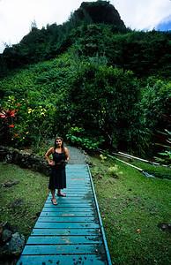 Atossa and Makana, Limahuli Garden Fujichrome Velvia 50