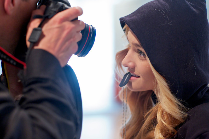 Shawn Welling capturing Chachi Gonzales with a little dog fur and AXI dog tags.
