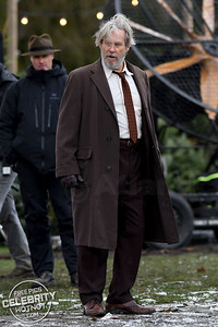Put 'Em Up! Jeff Bridges & Nick Offerman Film 'Bad Times At The El Royale' in Agassiz, Canada