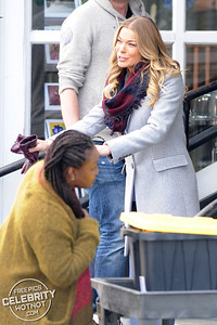 LeAnn Rimes Films It's Christmas Eve Movie With Tyler Hynes