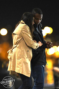 Freida Pinto Kissing Co-Star Leslie Odom Jr On Set Of Needle In A Timestack, Canada