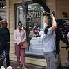 "Chaz Lamar Shepherd and Demetria McKinney on set of ""A Gospel Christmas"" - September 1, 2021"