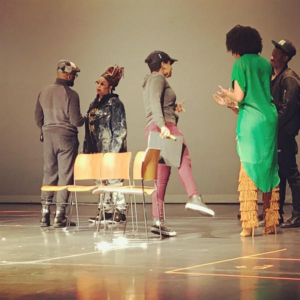 Da Brat, Kyla Pratt and Demetria McKinney at the Set It Off stage play rehearsal on February 28, 2018