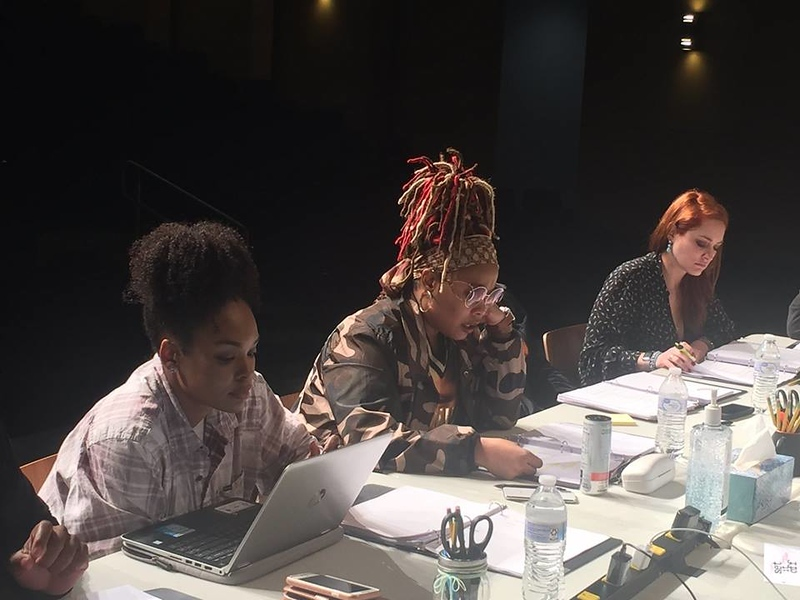 Demetria McKinney and Da Brat at the Set It Off stage play rehearsal on February 27, 2018
