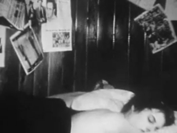 "Stacy Bloxsom in ""Sex and Lies"", short super-8 punk film, 1998"