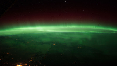 Aurora Borealis - 250 Miles Above the Earth