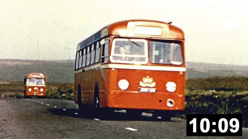Western Welsh footage including:<br /> 500 (or 506) (EUH 500/6), a 1950 AEC Regal III with Windover FC33F on tour in the Lake District and Scotland.<br /> 101 and 106 (OUH 101/6), 1958 AEC Reliances/Harrington C36F on tour in the Lake District and Scotland. Look out for the BR 5MT 4-6-0 on the Forth Bridge.<br /> 106 (OUH 106), another 1958 AEC Reliance/Harrington C36F on tour in Scotland.<br /> 126 (WKG 126), a 1961 AEC Reliance/Weymann C36F on tour in Scotland. Includes a clip of a vintage Wolseley and a wonderful AA Patrol minivan.<br /> 156 (GKG 156D) an AEC Reliance 470 with Plaxton 'Panorama' C38F.<br /> A Red & White Royal Tiger. (10 min 09 sec.)