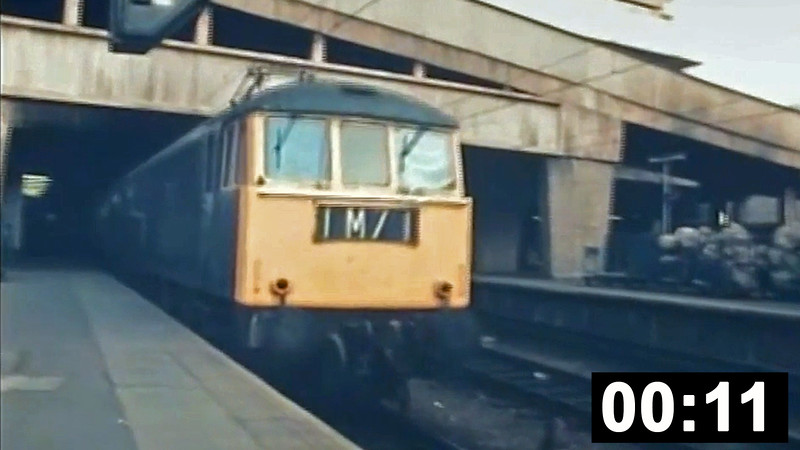 A very brief clip of class 86 no. E3126 leaving Birmingham New Street. E3126 was later to become 86231 'Starlight Express'. <br /> (11sec. No sound).