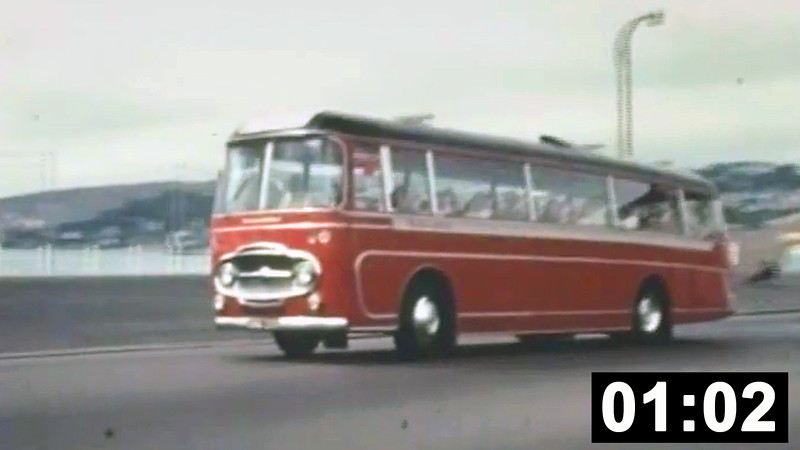 Midland Red coaching snippets. Included are C3s, a C4, a CM6 and finally one of the C3s rebodied with Plaxton Panorama C36F in 1962, <br /> (1min 02 sec. No sound.)