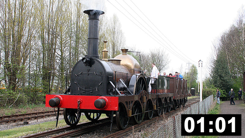 Footage of the replica 'Fire Fly' in action at Didcot on its inaugural day, plus GWR 2-8-0 no. 3822 on the turntable. 30th April 2005.<br /> (1min 01sec.)