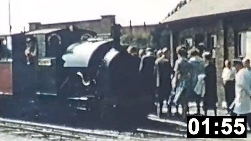 Archive footage from the early preservation days on the Talyllyn Railway, featuring Kerr Stuart (4047/1921) 0-4-2ST No.4 'Edward Thomas'.<br /> (1min 55sec.)