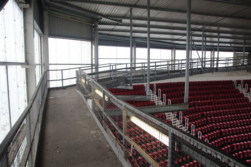 Gantry running under the roof of Dr Marten (West) Stand.