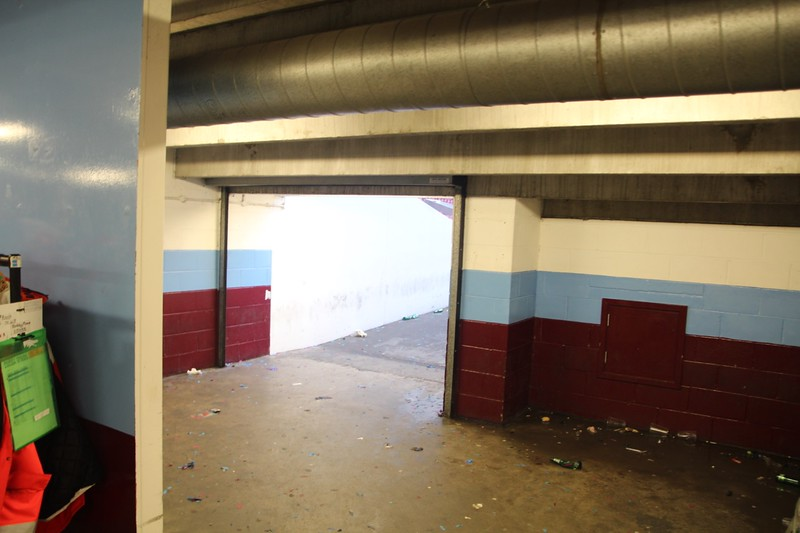 Access from Ground Floor Concourse into Stands.