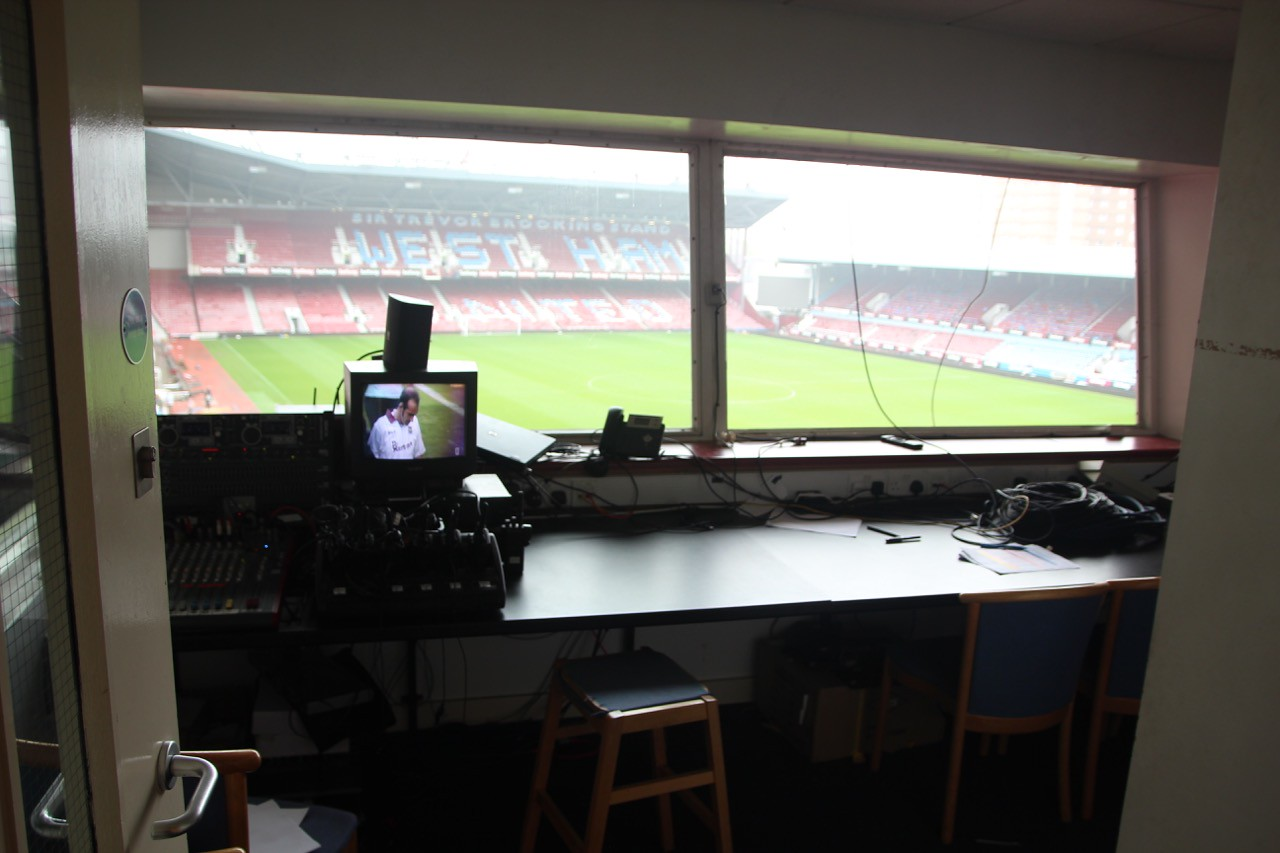P.A. Room (announcers) next to Control Room on Level 3.