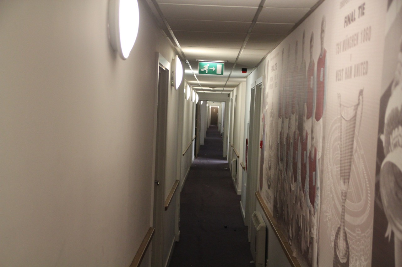 Level 2 Corridor to Bobby Moore Function Suite.
