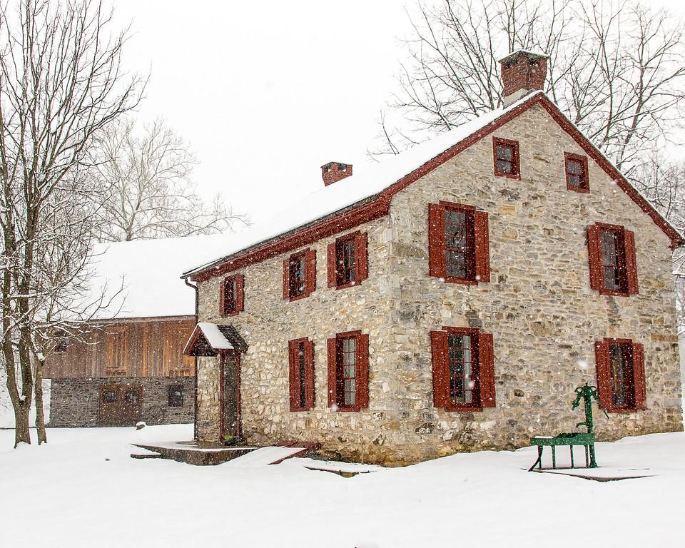 Snowy farmstead