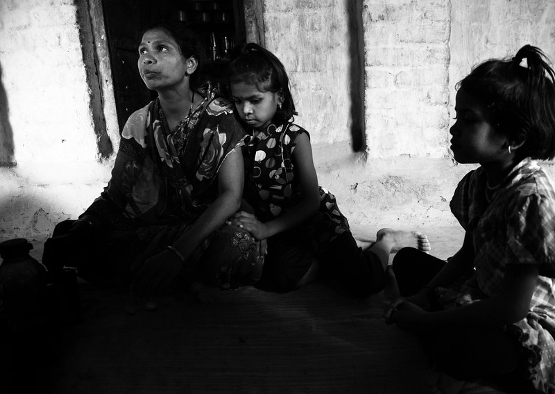 After Jitender's suicide, Savita is one of such widow who is now left with the responsibility of her three daughters and also debt which her husband borrowed from private money lenders and banks for farming. She received a compensation of Rs. 100,000 from the government but only 30,000 had been given to her immediately, while 70,000 have been deposited for her children when the eldest one turns 18. The money wasn't enough for her to pay the debts and she ended up borrowing more money. And the lack of rainfall in the last few years have led to crop failure and crushed her under the debt.