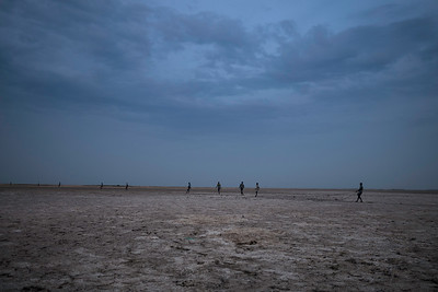 The long stretches of beaches where fishermen pull the net