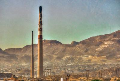 Final sunrise at the Asarco Stacks