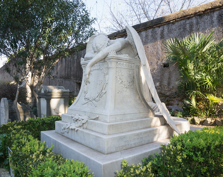 Angel of Grief, William Wetmore Story, Protestant Cemetery, Rome