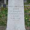 Paul Revere Grave, Granary Burying Ground, Boston