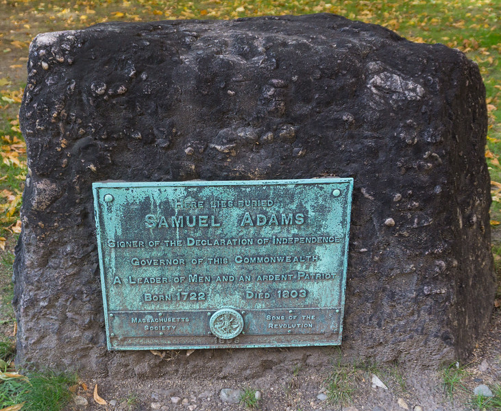 Samuel Adams Grave, Granary Burying Ground, Boston