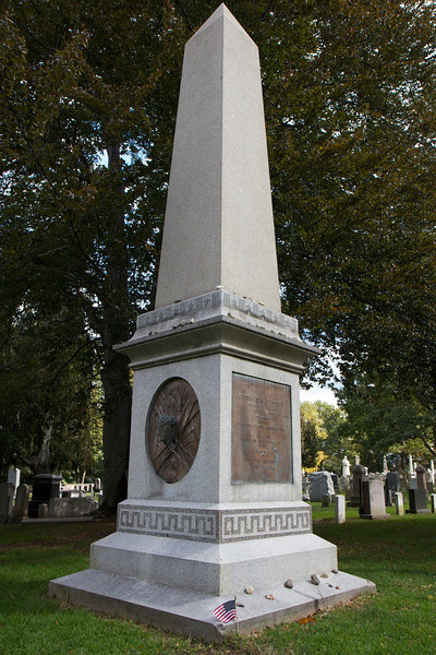 "George Custer's Grave, United States Military Academy at West Point, New York <br><br> Custer was originally buried at the Little Bighorn Battlefield two days after his death in June 25, 1876. In the summer of 1876, his remains were removed and taken to Poughkeepsie, New York. His remains were taken to the United States Military Academy at West Point. <a href=""http://www.sonofthesouth.net/union-generals/custer/custer-funeral-grave.htm"">Son of the South</a> provides the Harper's Weekly story of Custer's burial and detail on his life. <br><br> Our family took a tour of the U.S. Military Academy in the fall of 2011. The campus is not open to the public so we took a guided tour of the Academy grounds from West Point Tours. Highlights of the tour was the fall scenery from West Point, which overlooks the Hudson River, the Old Cadet Chapel built in 1837, and the West Point Cemetery. Notables buried there include football coach Red Blaik, Daniel Butterfield (composer of Taps), Lucius Clay (father of the Berlin Airlift), George Custer, Frederick Grant (son of U.S. Grant), Winfield Scott, and William Westmoreland.  <br><br> Overall, a nice day trip out of the City on a beautiful fall Saturday."