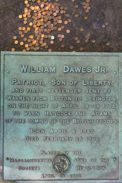 William Dawes, King's Chapel Burying Ground, Boston
