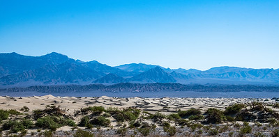 Longest and most accessible of the sand dunes in Death Valley.