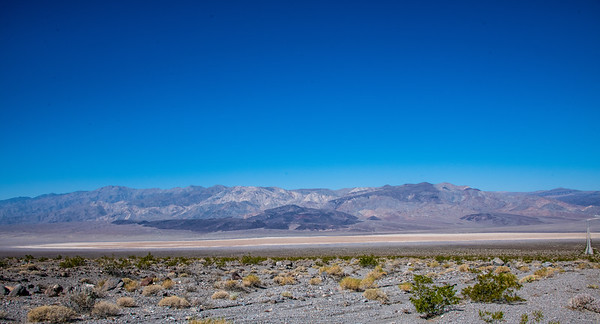 The Saline Valley with Hwy 190 on far right and the end of the deposits on the left.