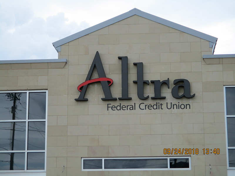 Altra Federal Credit Union channel letters