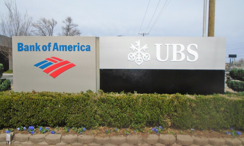 UBS Tyler Custom Routed Letters and Logo