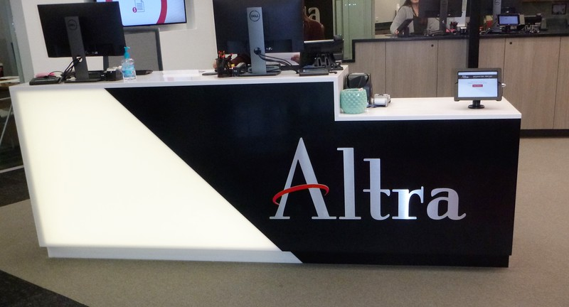 Altra Federal Credit Union aluminum and acrylic non-lighted letters