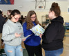HOLLY PELCZYNSKI - BENNINGTON BANNERKylee Radcliff, Kayla King and Jada Sorel take a moment to calculate all of there living expenses and deduct the amount from their income, during the Financial Reality Fair held at Southern Vermont College in Bennington on Friday morning. The fair, held to teach young students about the reality that faces them in the future and to prepare them for whats ahead. The Reality Fair was provided by the Bennington County Workforce and education.